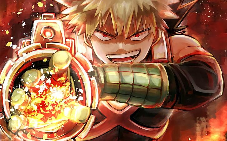 Hd Wallpaper Anime My Hero Academia Katsuki Bakugou Wallpaper Flare