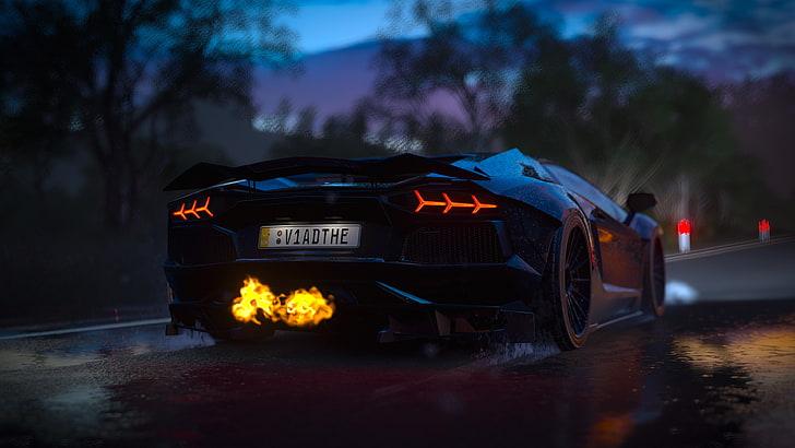 All right, have a nice reading. Hd Wallpaper Black Luxury Car Forza Games Forza Horizon 3 Lamborghini Aventador Wallpaper Flare