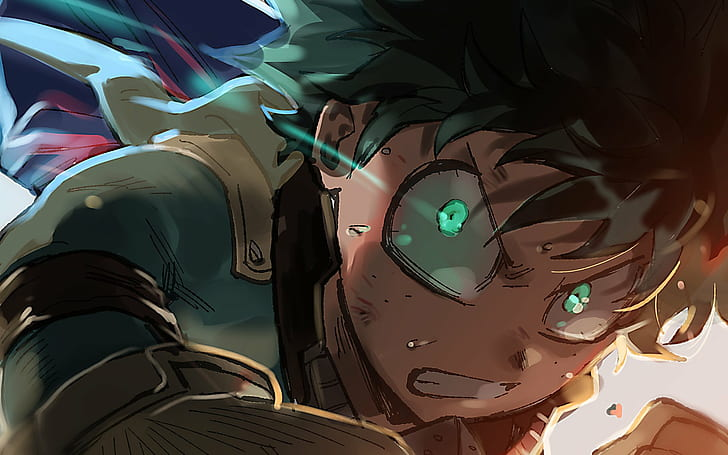Download for free wallpaper from anime my hero academia with tags: HD wallpaper: anime boys, green eyes, My Hero Acadamia ...