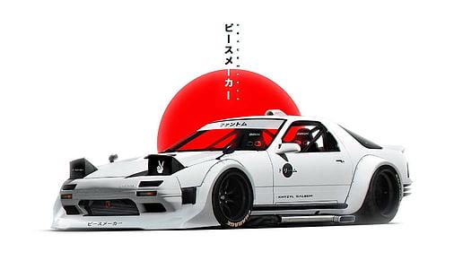 jdm japanese domestic market cars cityscapes sports 1920×1080 wallpaper. Hd Wallpaper Jdm Car Simple Background Mazda Rx 7 Render White Japan Wallpaper Flare