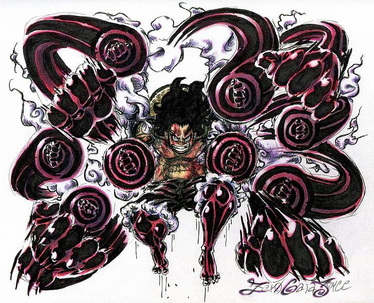 , rabāman) in japan, is a robot master who appears in mega man 11. Hd Wallpaper One Piece Gear Fourth Monkey D Luffy Snake Man Mega Man Wallpaper Flare