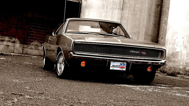 Vintage cars wallpaper vintage, cars, classic, cars. Hd Wallpaper Black Coupe Car Dodge Dodge Charger Classic Car Land Vehicle Wallpaper Flare