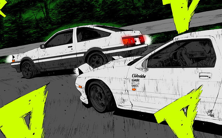 See car engine line drawing stock video clips. Hd Wallpaper Toyota Ae86 Mazda Rx 7 Drift Drawing Hd Cars Wallpaper Flare