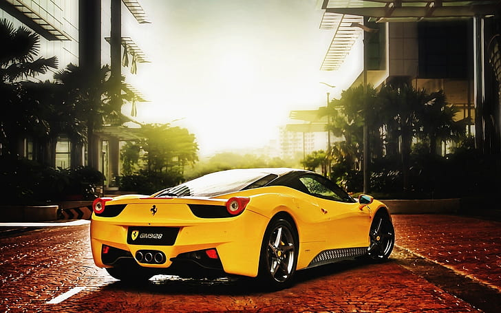 Our range of car wallpaper is the ultimate decorative gift for any petrolhead in the family. Hd Wallpaper Ferrari Cars Of Yellow Color Yellow And Black Sports Car Wallpaper Flare