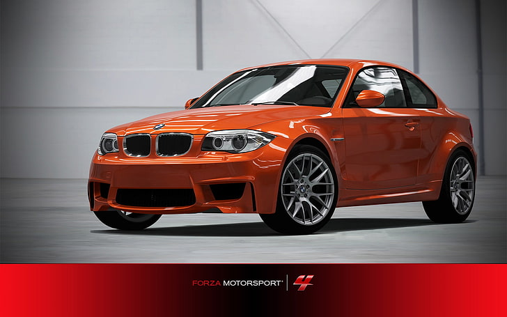 The control panel's personalization pane appears. Hd Wallpaper Forza Motorsport 4 Windows 7 Car Wallpapers 13 Orange Bmw Sedan With Text Overlay Wallpaper Flare