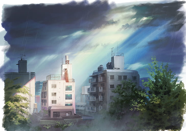 Early peak above the clouds makoto. Anime Scenery Wallpaper Weathering With You - Anime ...