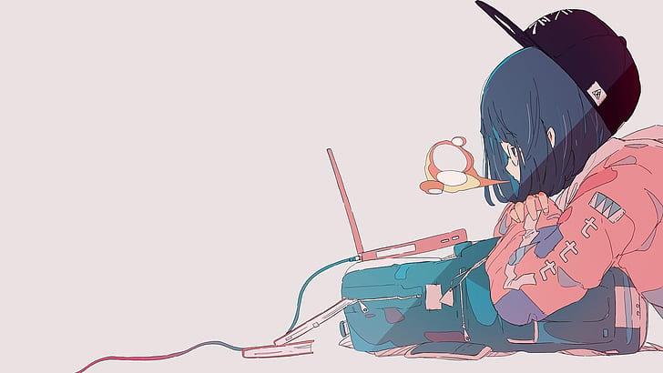 Hd Wallpaper Anime Girl Laptop Wallpaper Flare