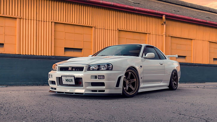 Remove wallpaper in five steps! Hd Wallpaper Nissan Skyline Gt R R34 Japanese Cars Jdm Vehicle White Cars Wallpaper Flare