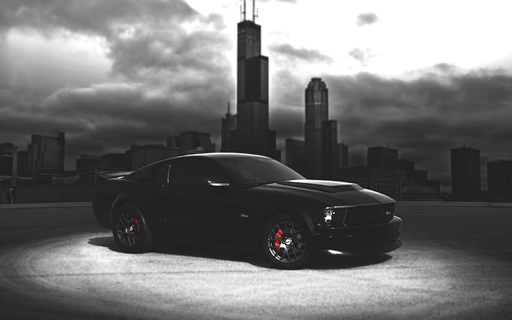 The ram 1500 rebel black pickup is just what you think it is. Hd Wallpaper Ford Mustang Black Car Dark Night City Black Coupe Wallpaper Flare