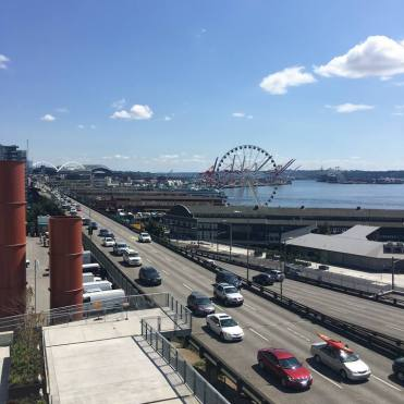 View of the Puget Sound in Seattle.