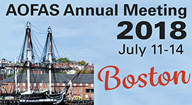 2018 AOFAS Annual Conference in Boston