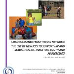 The use of new ICTs to support HIV and sexual health, targeting youth and adolescents - case studies and report (C4D Network 2015)