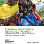 Exploring the potential for interactive radio to improve accountability and responsiveness to small-scale farmers in Tanzania (Making All Voices Count Research Report 2016)