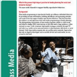 Mass Media: Reaching audiences far and wide with messages to support healthy reproductive behaviors (High Impact Practices in Family Planning Brief, 2017)