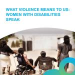 'What Violence Means to Us: Women with Disabilities Speak' (Inclusive Friends and NSRP Research Study, 2015)