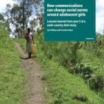 How communications can change social norms around adolescent girls (ODI study, 2016)