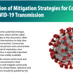 CDC: Implementation of Mitigation Strategies for Communities with Local COVID-19 Transmission [en]
