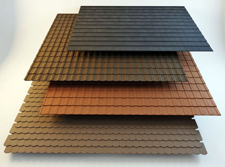 4 Types of Roof Tiles 3D Model - Free C4D Models on Tile Models  id=32424