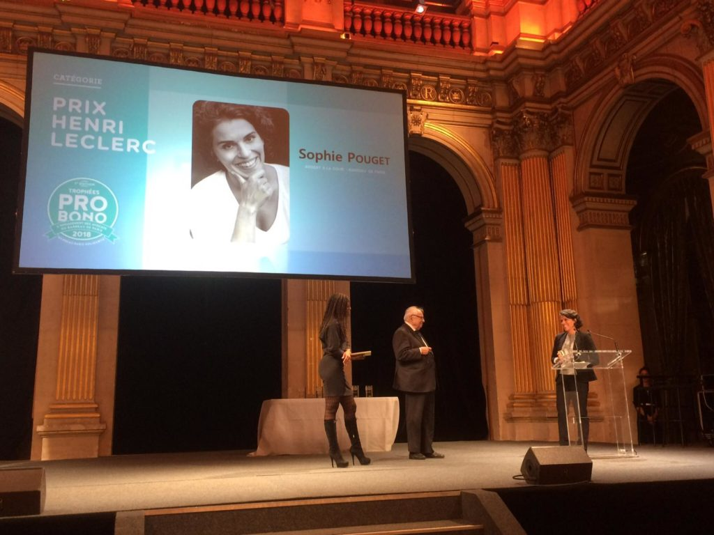 Prix Henri Leclerc Sophie Pouget 2018