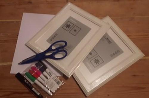 Framed lists supplies