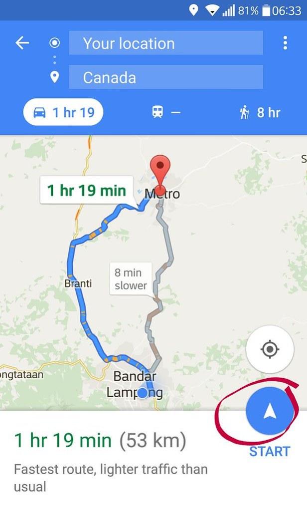 cara menggunakan google maps navigasi