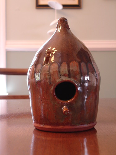 Mark Williams Pottery Birdhouse