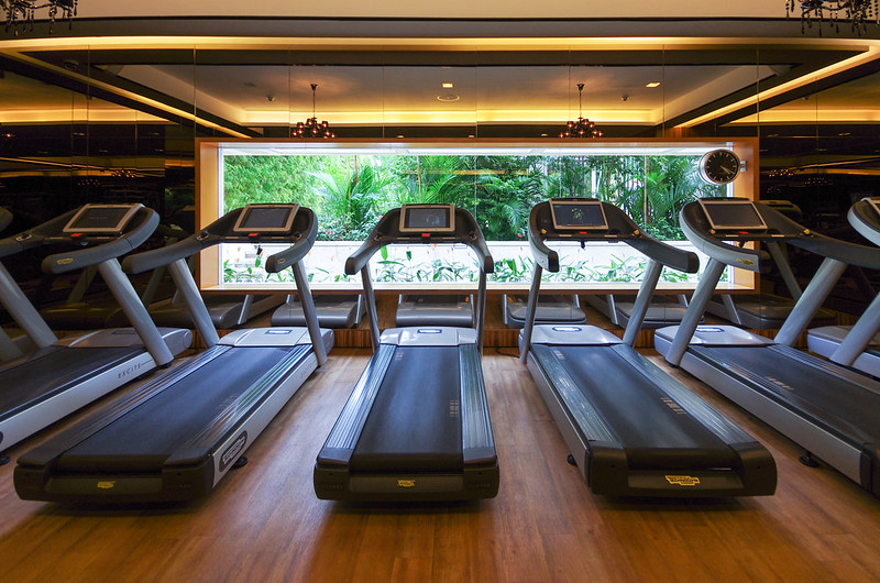 treadmills of the fitness centre - mandarin oriental singapore