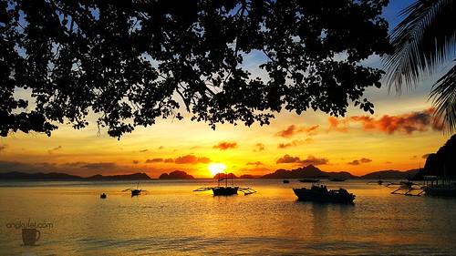 Corong-Corong Beach Sunset