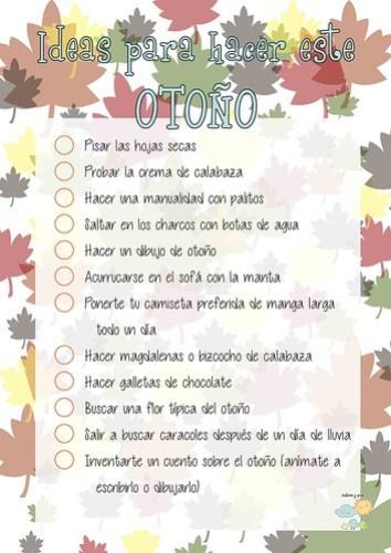Ideas para hacer en otoño