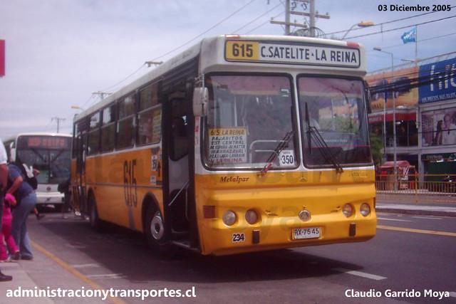 Micro Amarilla 615 | Metalpar Petrohué 1994 / Mercedes Benz OH1420 - RX7545