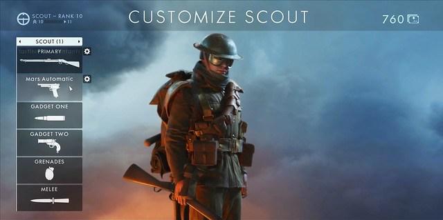 Battlefield 1 - Scout-Klasse