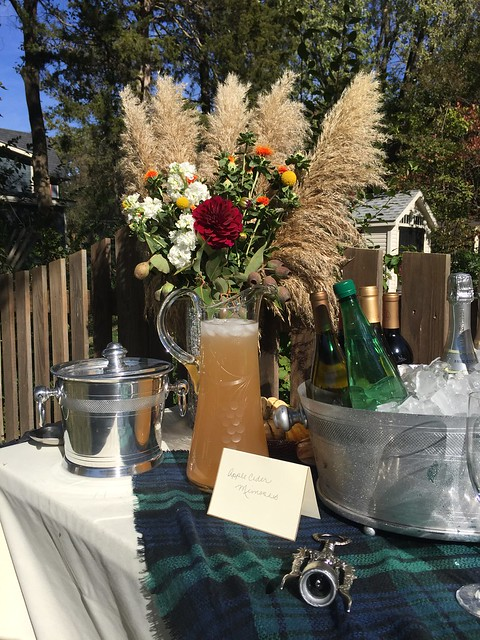 Fall themed baby shower by Calvert Designs Apple Cider Mimosas