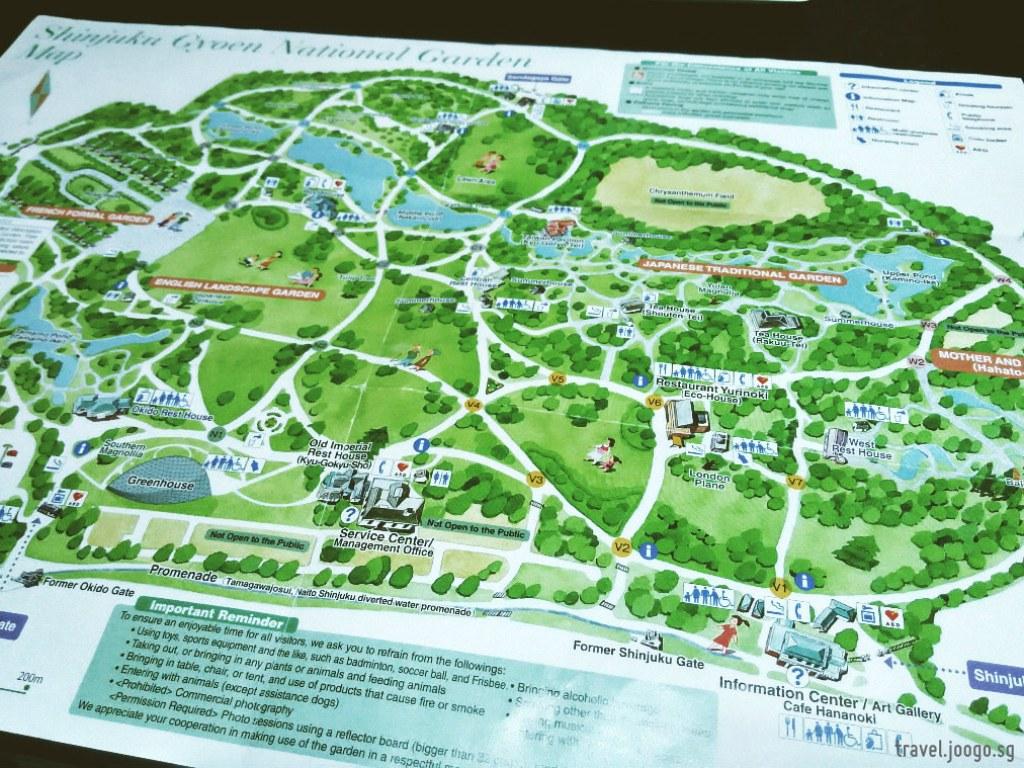 Shinjuku Gyoen Map - travel.joogo.sg