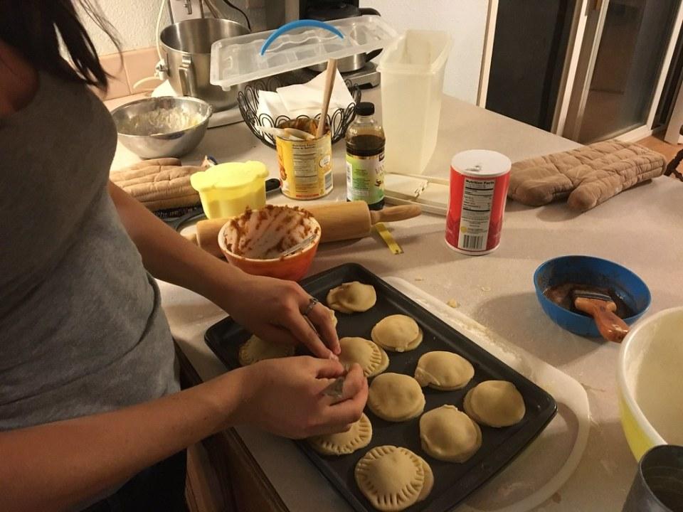 Tiffany making Pumpkin Pasties
