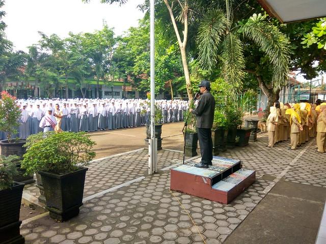 Victor Febrihandoko saat menjadi inspektur upacara(21/11)