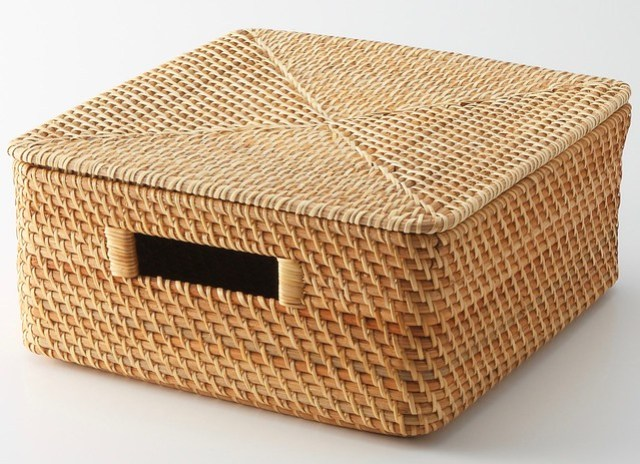 Stackable Rattan Baskets