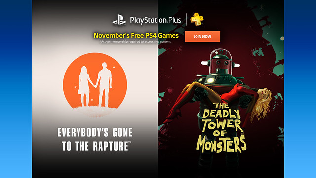 PS Plus October 2016