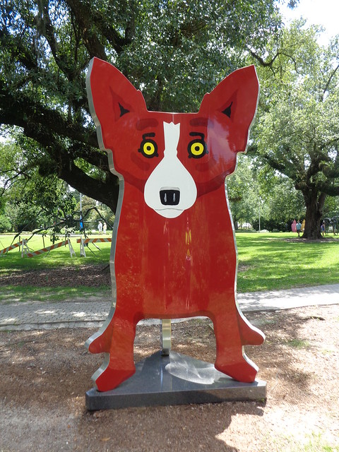 George Rodrigue, We Stand Together 2005, Sydney and Walda Besthoff Sculpture Garden, NOMA, New Orleans