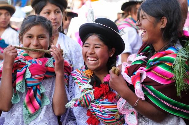 Niñas en Bolivia