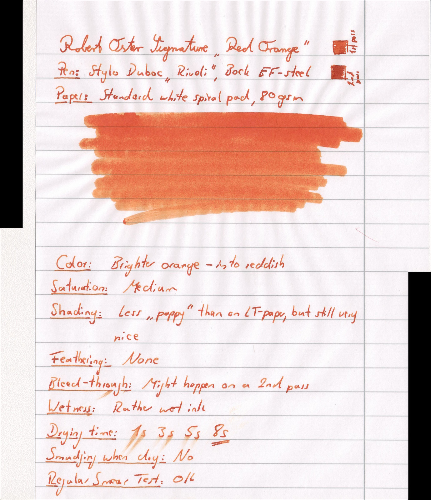 "Robert Oster Signature Ink ""Red Orange"""