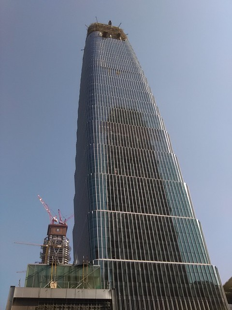 China World Trade Center Tower 3B look up