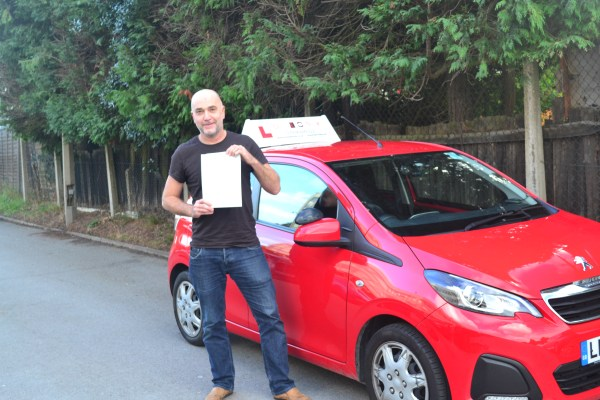 Automatic driving lessons North London Andy passed his practical driving test with Drive with Nik