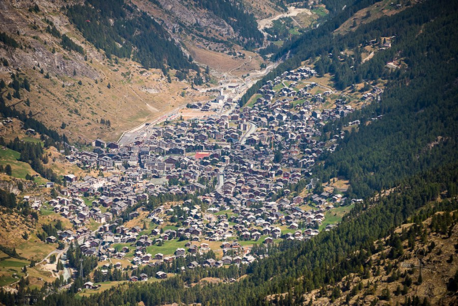 Upclose of Zermatt town