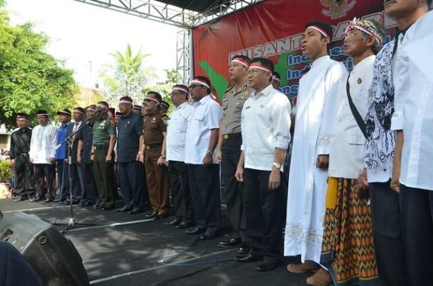 Suasana apel hari Nusantara Bersatu(30/11)