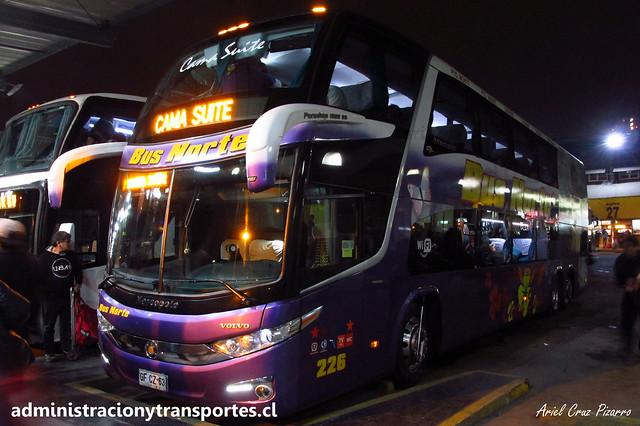 Bus Norte (Cama Suite) | Santiago (Terminal Sur) | Marcopolo Paradiso 1800 DD G7 - Volvo / GFCZ63 - 226