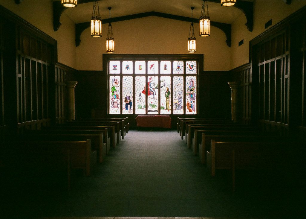 In the chapel