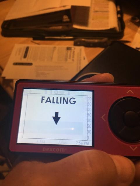 falling alert on Dexcom