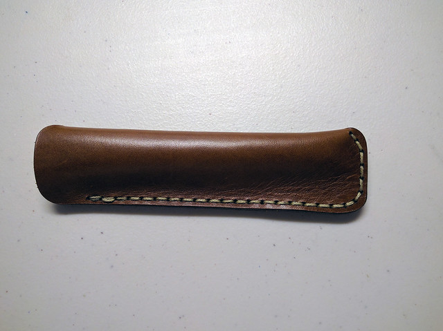 Galen Leather Single Pen Sleeve Empty