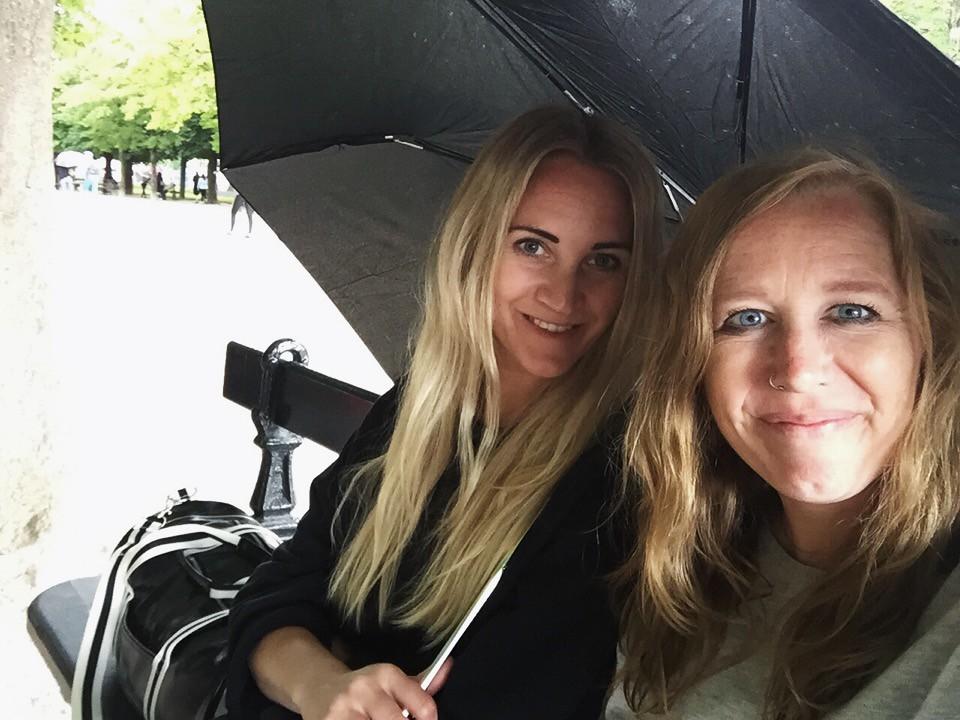 lina me luxembourg gardens rain paris