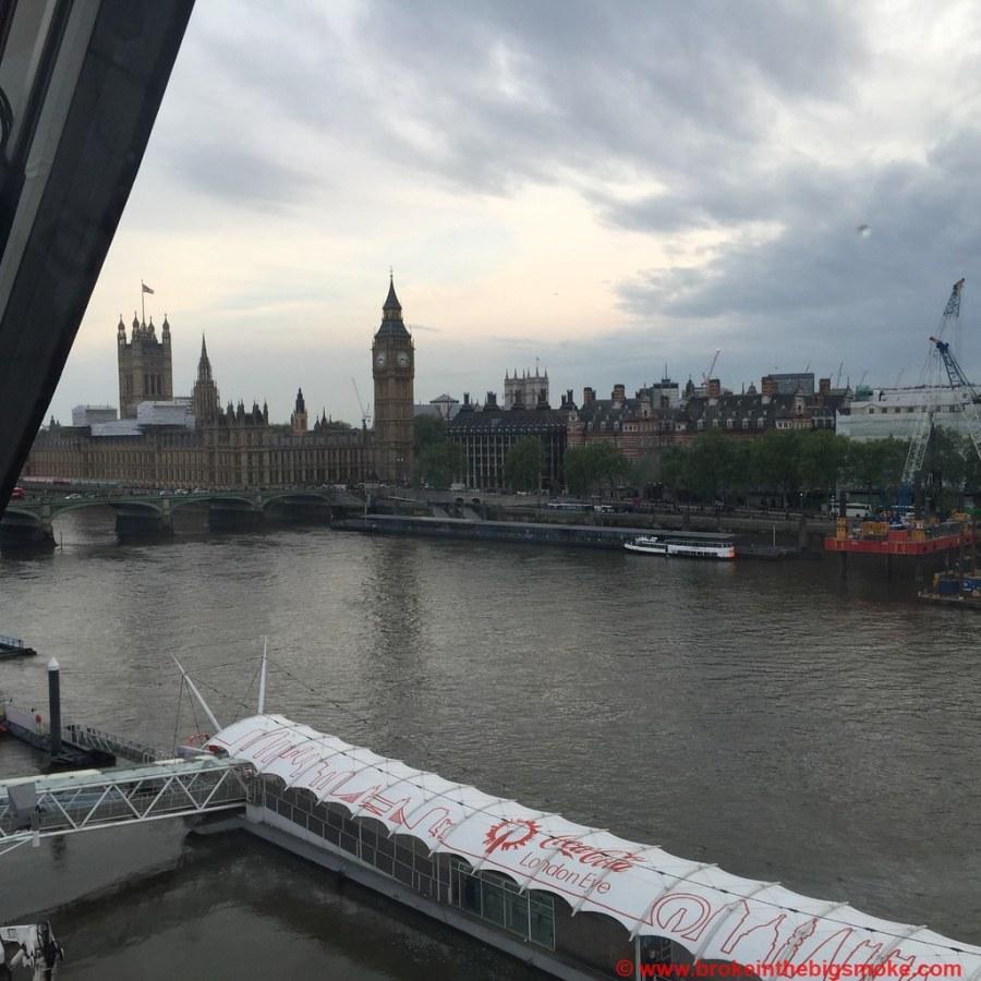 London Eye Parliament view